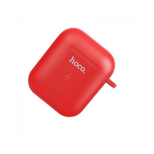 Hoco Hoco Wireless Charging Hoes voor Airpods 1 & 2   Rood