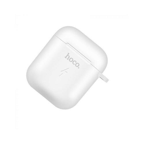 Hoco Hoco Wireless Charging Hoes voor Airpods 1 & 2   Wit