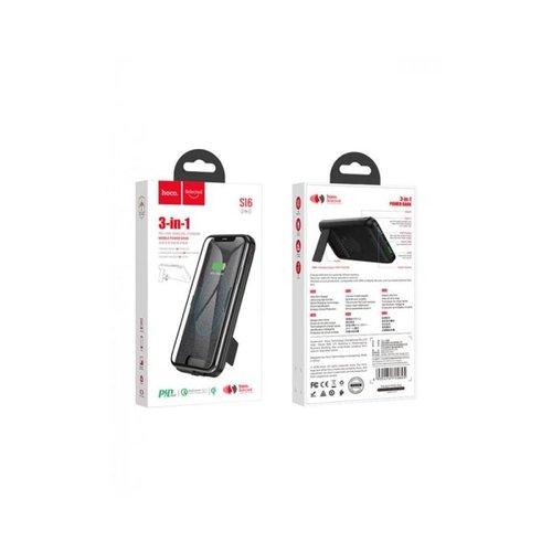 Hoco Hoco 10.000mAh draadloze powerbank - draadloos opladen - mobiele standaard - kantooroplader - energiezuinig - USB type C - Micro-USB