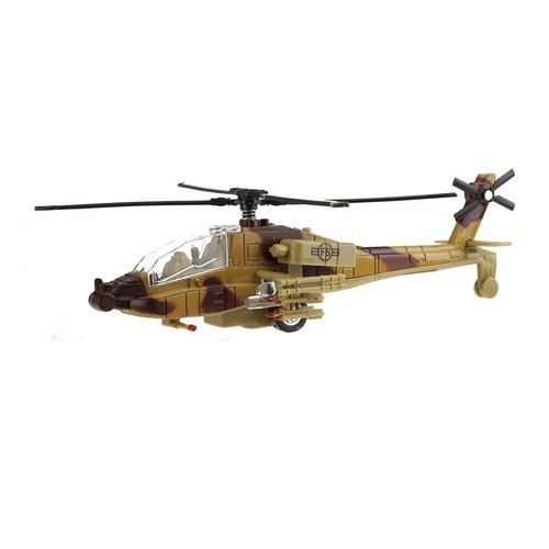 toi-toys Toi-Toys ARMY: Militaire gevechtshelikopter 20cm met licht en geluid (bruine versie)