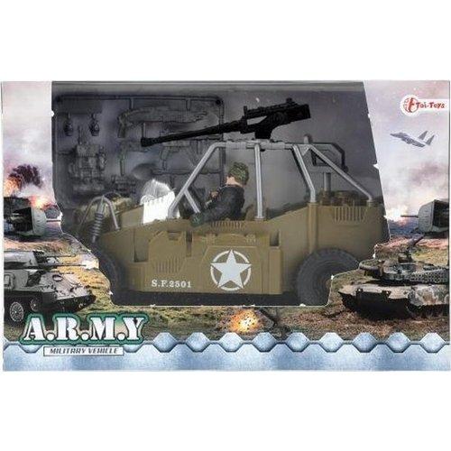 toi-toys Militaire Speelset Legerjeep Bruin