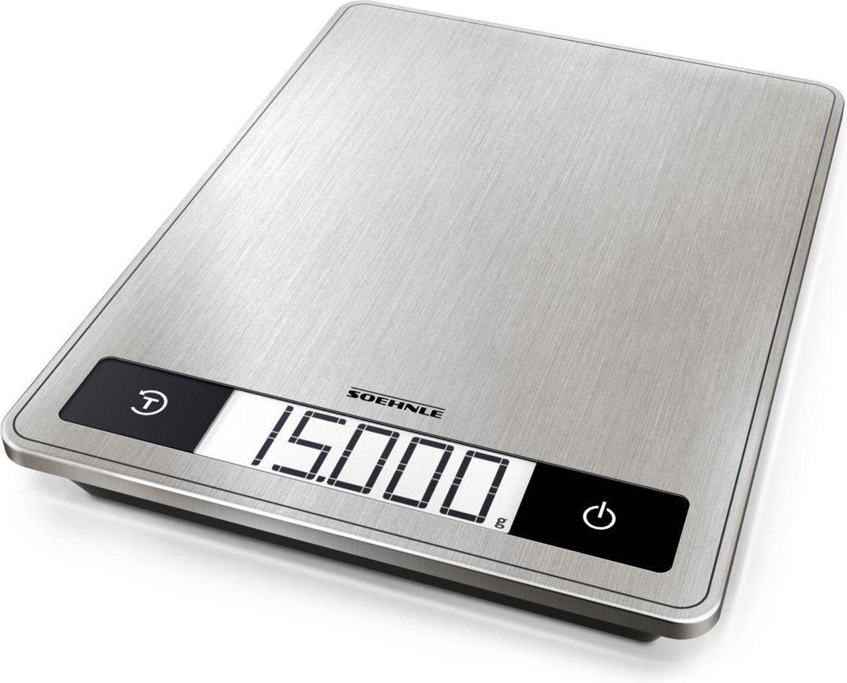 Digitale Keukenweegschaal Soehnle 24 X 17 5 Cm Tot 15 Kg Rvs