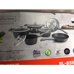 10 PCS MARBLE COATING COOKWARE SET RL-BS1010M GRAY
