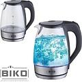 biko Biko LED Waterkoker - Zilver - Luxe Glazen Waterkoker met Verlichting