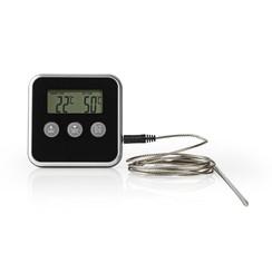 Nedis Vleesthermometer | 0 - 250 °C | Digitaal Display | Timer