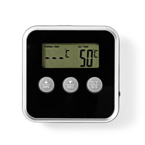 nedis Nedis Vleesthermometer | 0 - 250 °C | Digitaal Display | Timer