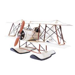 Blikken watervliegtuig - wit