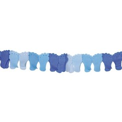 Geboorteslinger blauwe baby voetjes - 6 meter