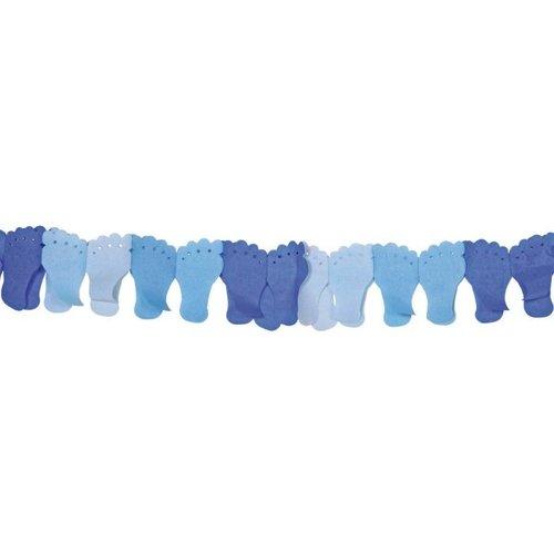 Folat Geboorteslinger blauwe baby voetjes - 6 meter