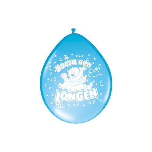 Folat Geboorte Ballonnen - Hoera een Jongen - 8 stuks