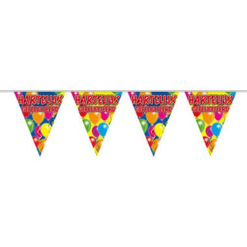 Folat Hartelijk Gefeliciteerd Slinger Balloons - 10 meter