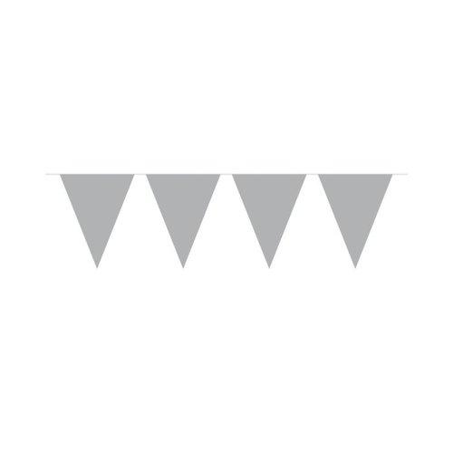 Folat Vlaggenlijn Effen Zilver /10mtr