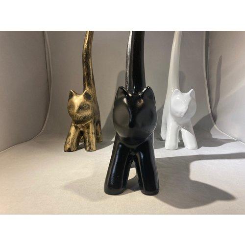 deco Kat - modern kunstbeeld - zwart