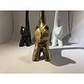 deco Kat - modern kunstbeeld - goud
