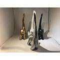 deco Kat - modern kunstbeeld - zilver