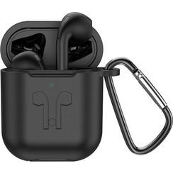 HOCO ES32 Plus - Volledig Draadloze Oordopjes - Met Oplaadcase en Zwart Siliconen Beschermhoesje - Geschikt voor alle Bluetooth Smartphones zoals Apple iPhone en Android - Mat Zwart