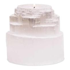 Seleniet Waxinelichthouder Waterval – 8 x 8 cm (ca. 600 gram)