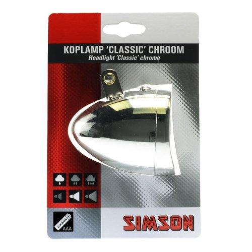 Koplamp Classic Chroom