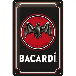 Bacardi metal plate - 20x30cm