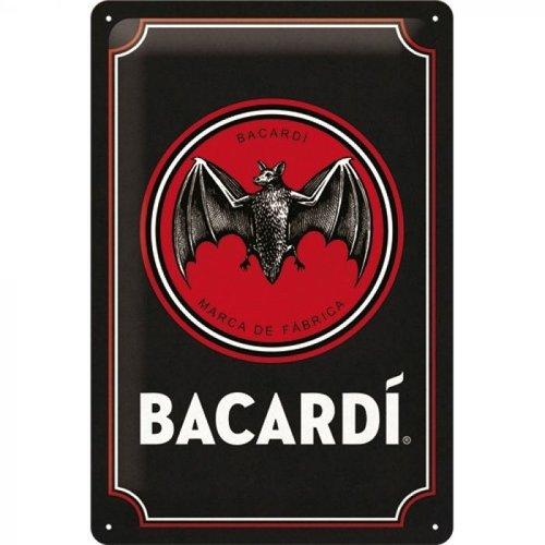 nostalgic art Bacardi metal plate - 20x30cm