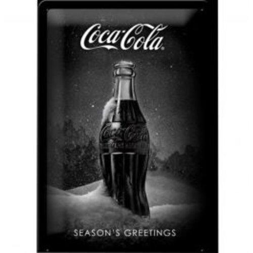 nostalgic art Coca Cola Season's Greetings metal plate 20x30cm