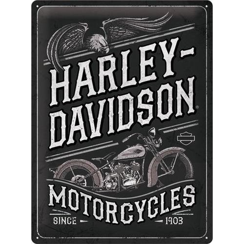 nostalgic art Harley Davidson Motorcycles Since 1903 metal plate 30x40cm
