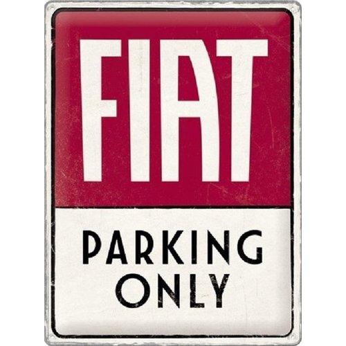 nostalgic art Fiar parking only metal plate 30x40cm