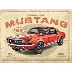 Ford Mustang GT 1967 American Classic metal plate 30x40cm