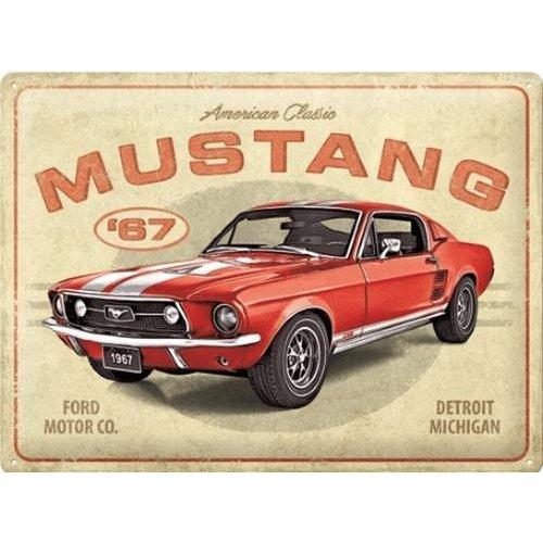 nostalgic art Ford Mustang GT 1967 American Classic metal plate 30x40cm