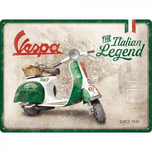 nostalgic art Vespa the italian legend metal plate 30x40cm
