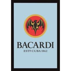 Spiegel Bacardi logo 32x22cm