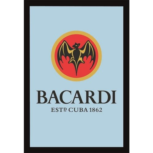 nostalgic art Spiegel Bacardi logo 32x22cm