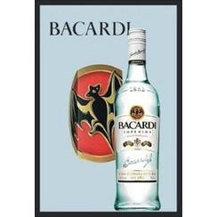 Spiegel Bacardi bottle 32x22cm