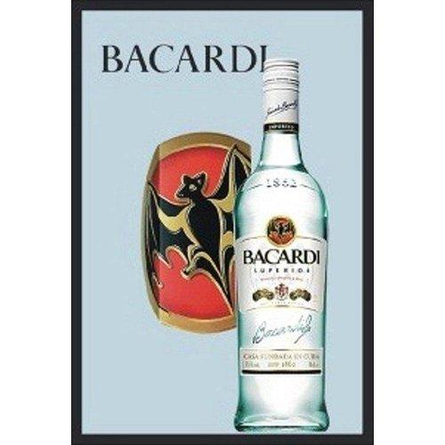 nostalgic art Spiegel Bacardi bottle 32x22cm