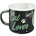 nostalgic art Emaille Mok Cat Lover Zwart
