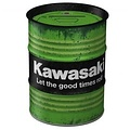 nostalgic art Kawasaki olieblik tinnen spaarblik