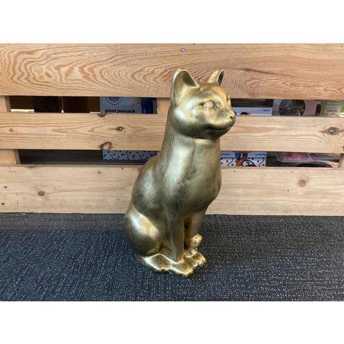 deco Kat zittend - goud