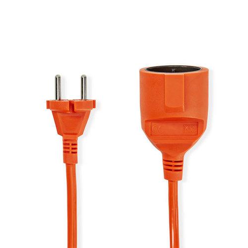 nedis Nedis Verlengkabel | 20 m | H05VV-F 2X1.5 | Oranje