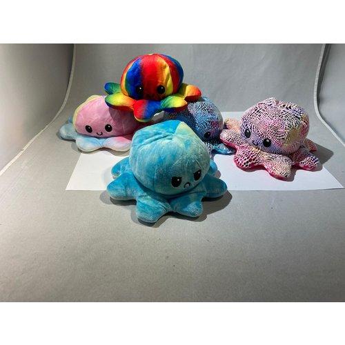 tiktok Octopus knuffel - Octopus knuffel mood - octopus knuffel omkeerbaar - reversible - emotieknuffel - mood knuffel