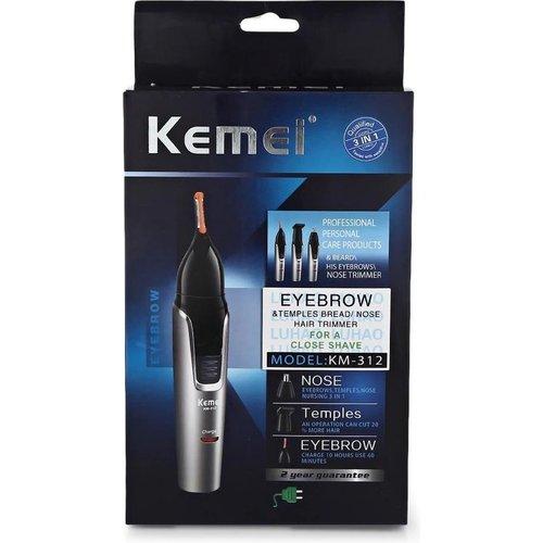 Kemei Kemei - neus, oor en wenkbrauw trimmer - 3 in 1 – oplaadbaar