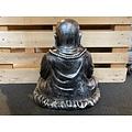 deco Boeddha zittend - oud zilver - 180203