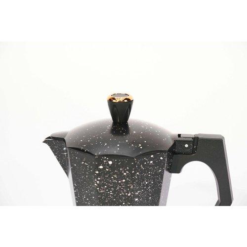 Rosenberg Rosenberg Espresso maker inductie aluminium - percolator 6 kops – zwart