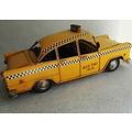 Gele amerikaanse taxi - checkerboard - blik