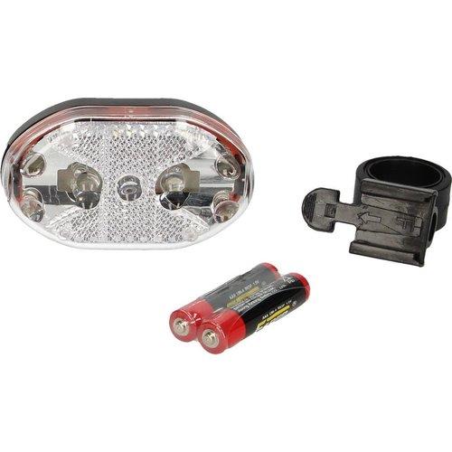 techno Multifunctionele 9 LED Fiets Verlichting - Wit - Inclusief Batterijen