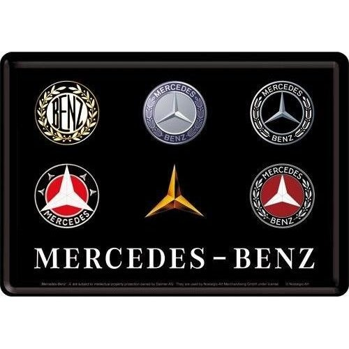 nostalgic art Mercedes-Benz logo Metalen Postcard 10 x 14 cm