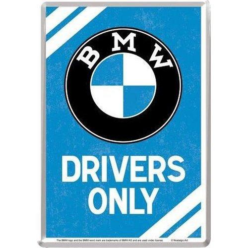 nostalgic art BMW Drivers Only Metalen Postcard 10 x 14 cm