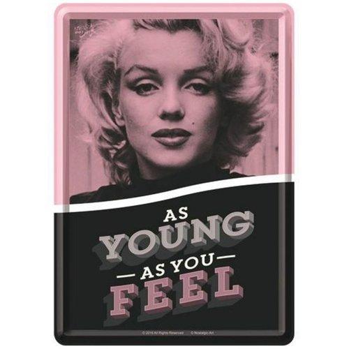 nostalgic art As Young As You Feel Metalen Postcard 10 x 14 cm