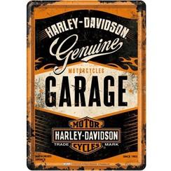 Harley-Davidson Genuine Metalen Postcard 10 x 14 cm