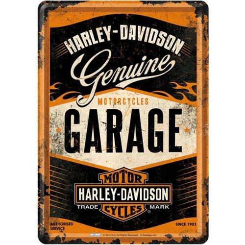 nostalgic art Harley-Davidson Genuine Metalen Postcard 10 x 14 cm