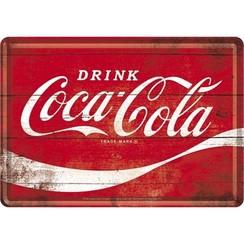 Coca-Cola Wave Metalen Postcard 10 x 14 cm